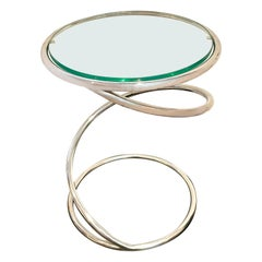 1970s Spring Cocktail Table Designed by Leon Rosen for Pace