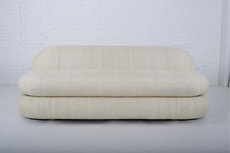 American 1970s Stacked Pouf Slipper Sofa For Sale