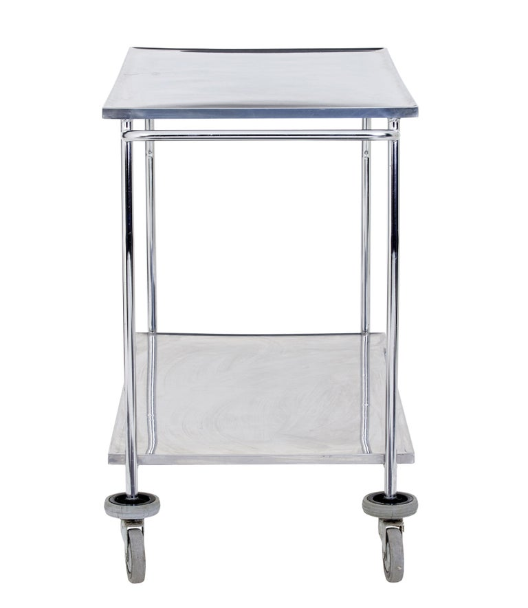 1970s stainless steel trolley