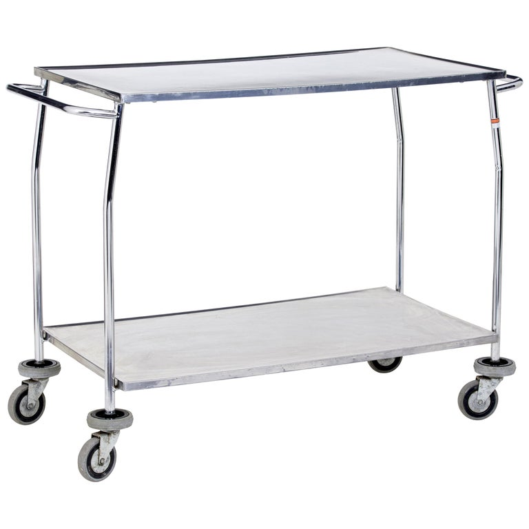 1970s Stainless Steel Trolley For Sale