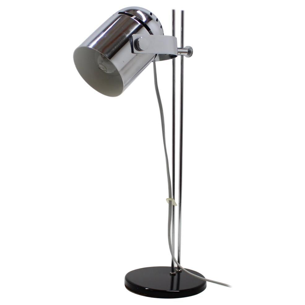 1970s Stanislav Indra Adjustable Chrome Plated Table Lamp, Czechoslovakia