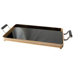 1970s Steel Brass Bakelite Tray, Spain, 1970