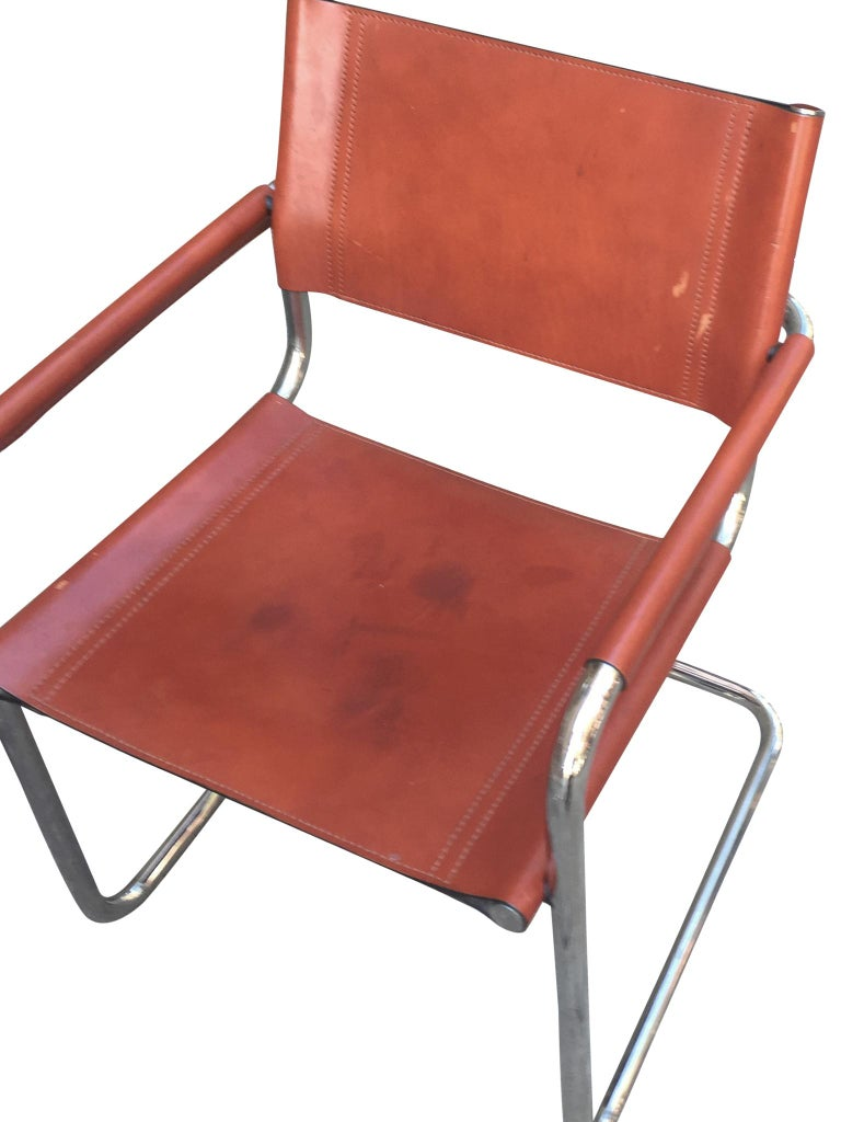 1970s Stendig Leather and Chrome Dining Chairs, a Set of 6 For Sale 7