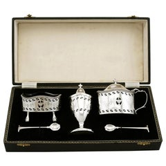 1970s Sterling Silver Condiment Set