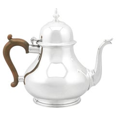 1970s Sterling Silver Teapot by William Comyns & Sons Ltd 'Richard Comyns'