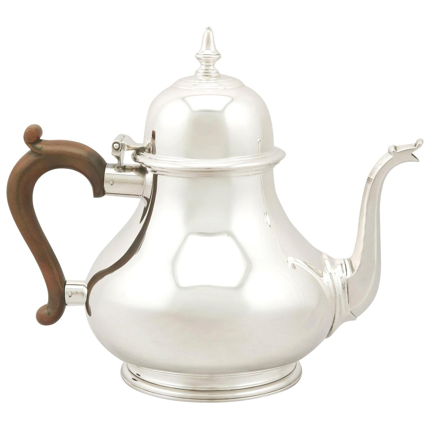 1970s Sterling Silver Teapot