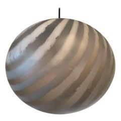 1970s Striped Glass Ball Pendant by Peill & Putzler
