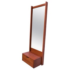 1970s Studio Craft Oak Wall Mirror by Charles Webb