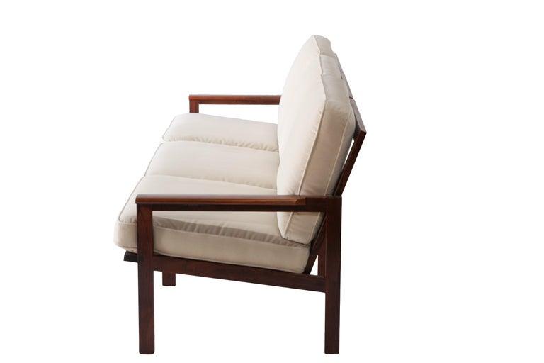 Scandinavian Modern 1970s Swedish Rosewood Sofa in the Style of Finn Juhl For Sale