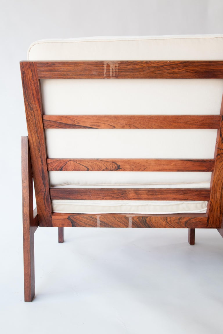 Late 20th Century 1970s Swedish Rosewood Sofa in the Style of Finn Juhl For Sale