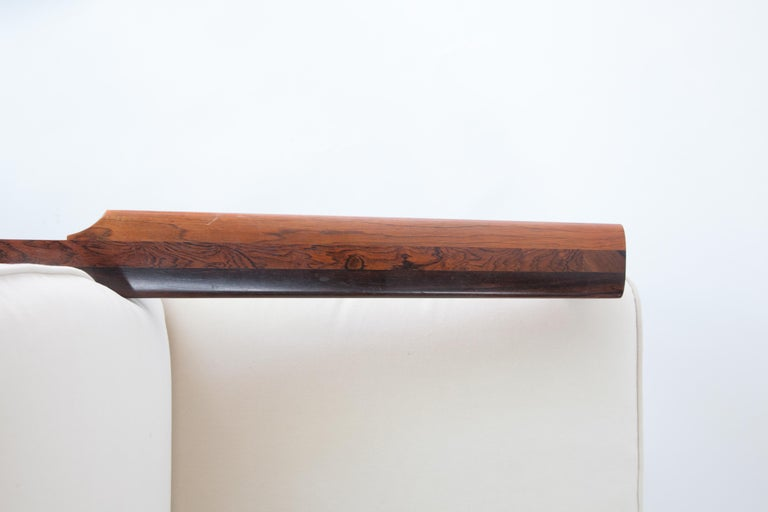 Upholstery 1970s Swedish Rosewood Sofa in the Style of Finn Juhl For Sale