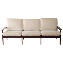 1970s Swedish Rosewood Sofa in the Style of Finn Juhl