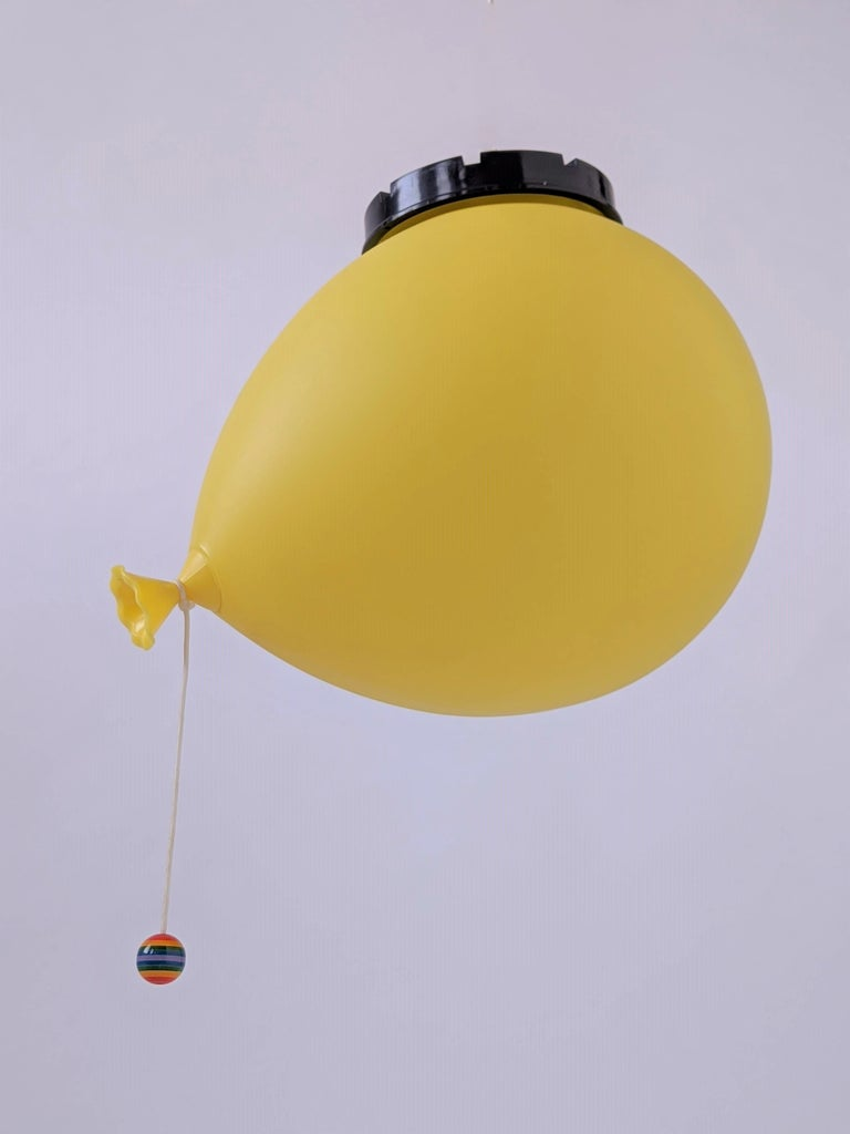 Plastic 1970s Table, Wall or Ceiling Ballon Lamp by Yves Christin, Italy For Sale