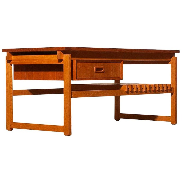 1970s Teak Coffee or Side Table with Drawer Made in Denmark