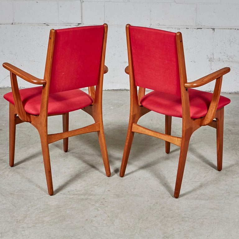 Dining Benches For Sale: 1970s Teak Dining Table And Chairs For Sale At 1stdibs