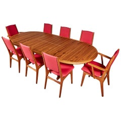 1970s Teak Dining Table and Chairs