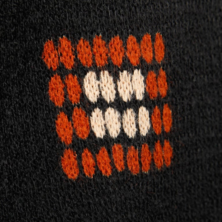 Women's 1970s Teal Traina Vintage Wool Knit Cardigan Sweater Blazer Jacket For Sale