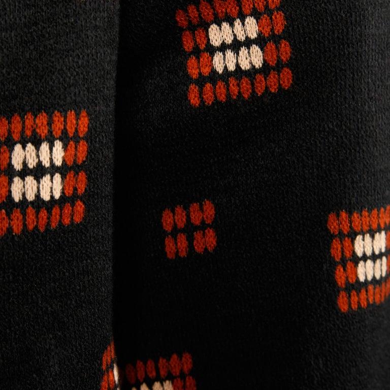 1970s Teal Traina Vintage Wool Knit Cardigan Sweater Blazer Jacket For Sale 2