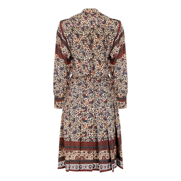 Brown 1970s Ted Lapidus Boho Dress For Sale
