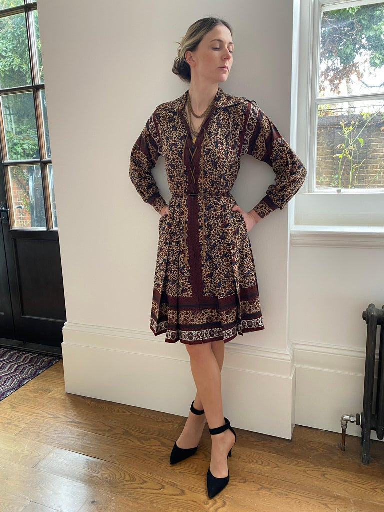 1970s Ted Lapidus Boho Dress For Sale 3
