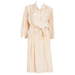 1970s Ted Lapidus Pastel Silk Dress