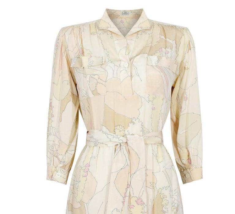 Women's 1970s Ted Lapidus Silk Shirt Dress For Sale
