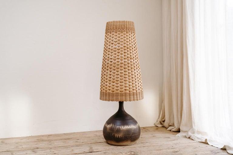French 1970s Terracotta Floorlamp For Sale