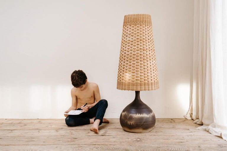 1970s Terracotta Floorlamp In Good Condition For Sale In Brecht, BE
