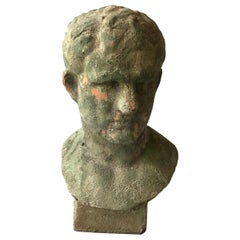1970s Terracotta Classical Male Bust