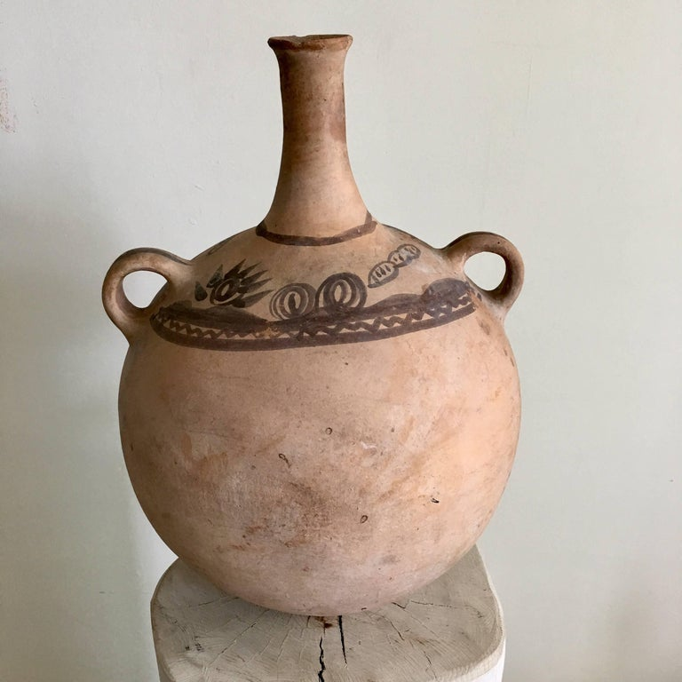Rustic 1970s Terracotta Pot from Mexico For Sale