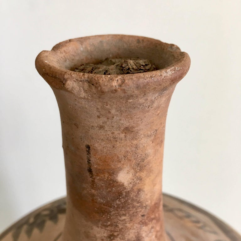 Fired 1970s Terracotta Pot from Mexico For Sale