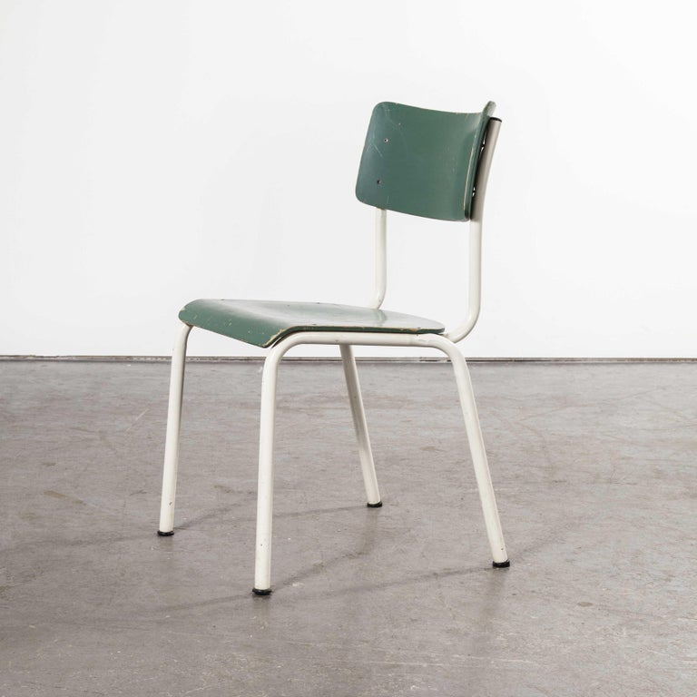 1970s Thonet Stacking Dining Chairs for the German Army, Green, Set of Eight For Sale 6