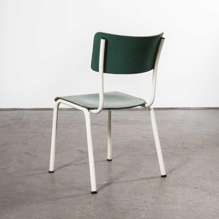 1970s Thonet Stacking Dining Chairs for the German Army, Green, Set of Eight For Sale 7