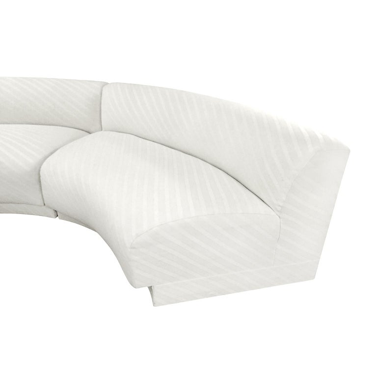 Astounding 1970S Three Piece Curved Sectional Sofa In Original Ivory Cjindustries Chair Design For Home Cjindustriesco
