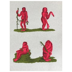 1970s Tiber Press Monkey Lithographs