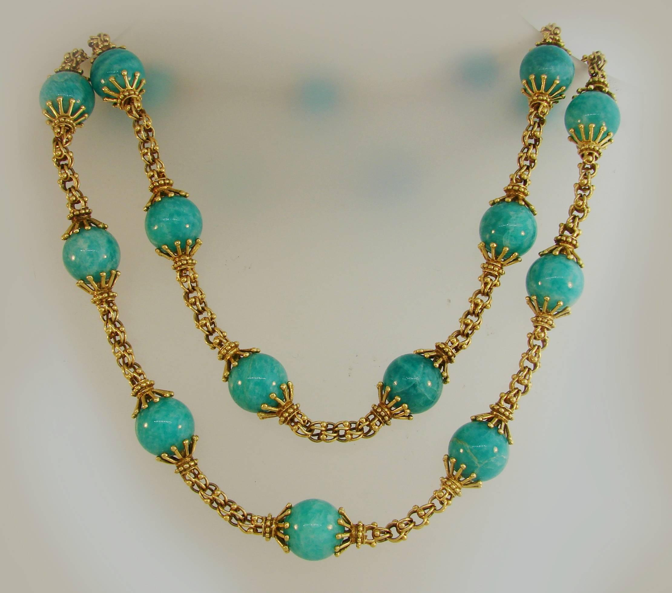 necklace silk amazonite finola etta shop turquoise jewelry