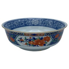 1970s Tiffany & Co. Chinoiserie Blue and White Imari-Style Catchall Bowl