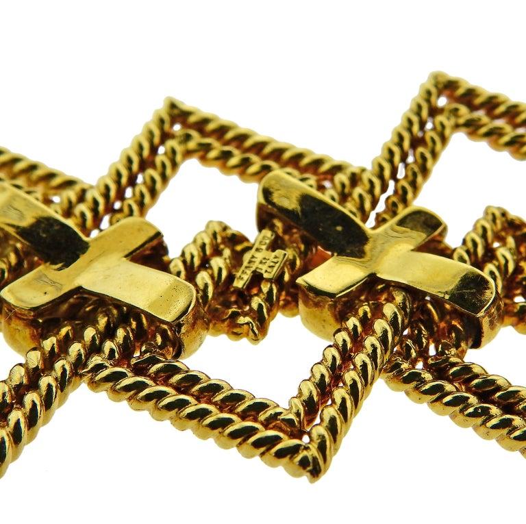 Women's or Men's 1970s Tiffany & Co. Gold Wide Bracelet For Sale