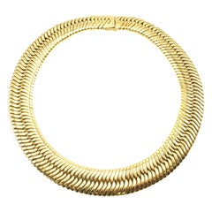 1970s Tubogaz 18 Karat Yellow Gold Flexible Choker Necklace