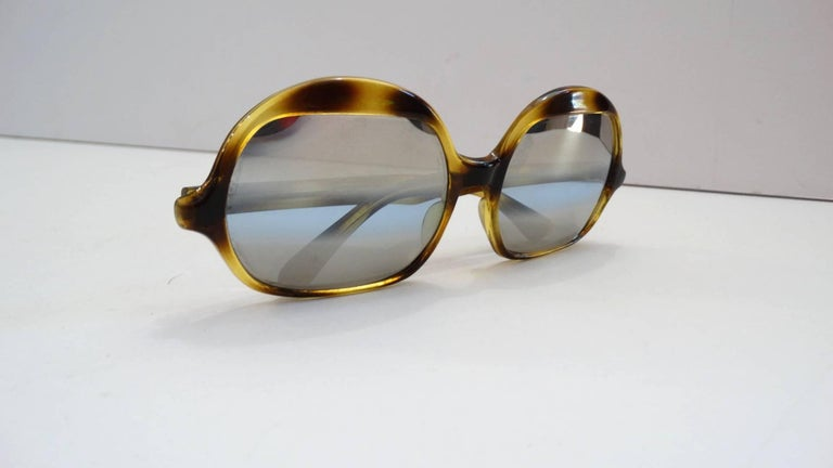 Women's 1970s Tortoise Oversized Mod Sunglasses For Sale