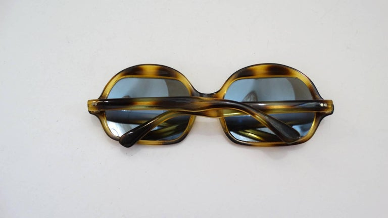 1970s Tortoise Oversized Mod Sunglasses For Sale 3