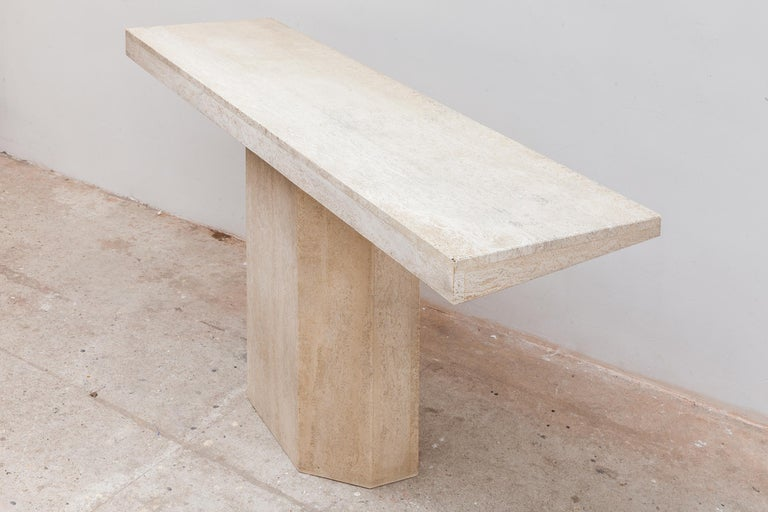 Mid-Century Modern 1970s Travertine Console, Italy For Sale