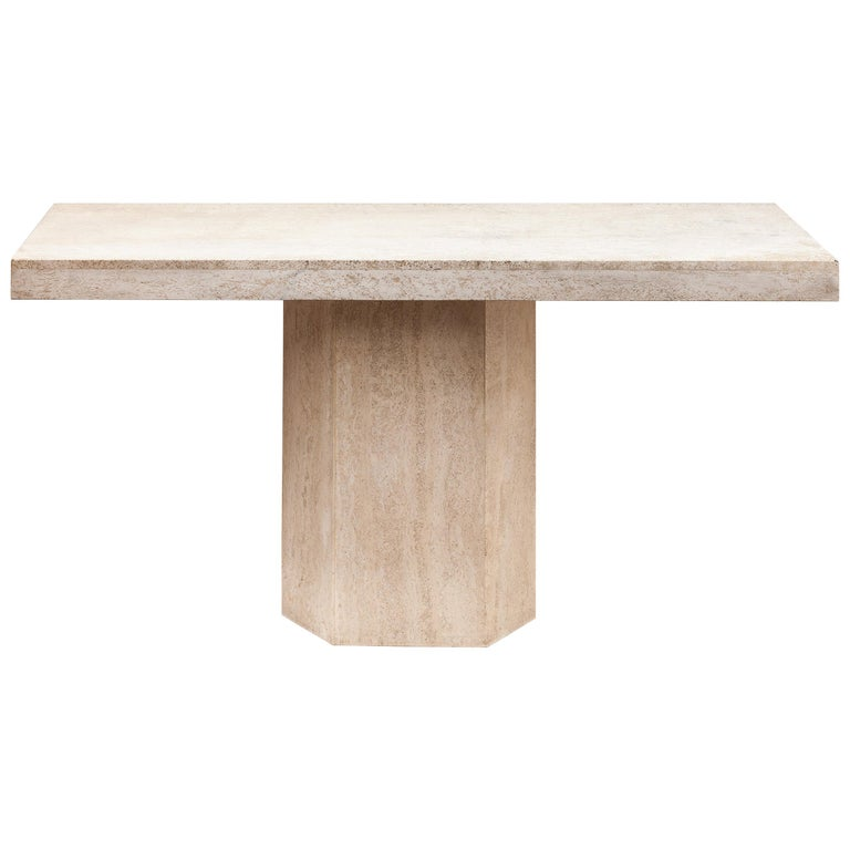 1970s Travertine Console, Italy For Sale