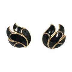 1970s Trifari Enamel Earring