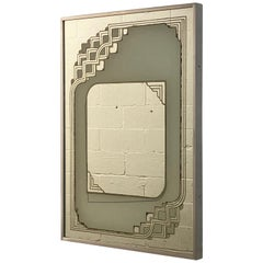 1970s Triton Galleries Graphic Wall Mirror