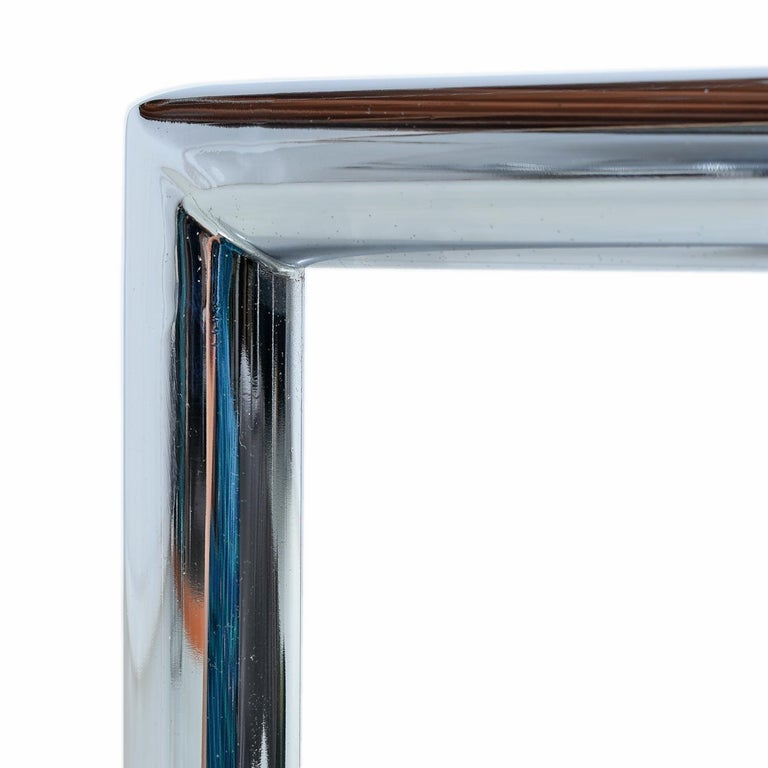 Late 20th Century 1970s Tubular Chrome Cane Glass Milo Baughman for Design Institute Coffee Table For Sale