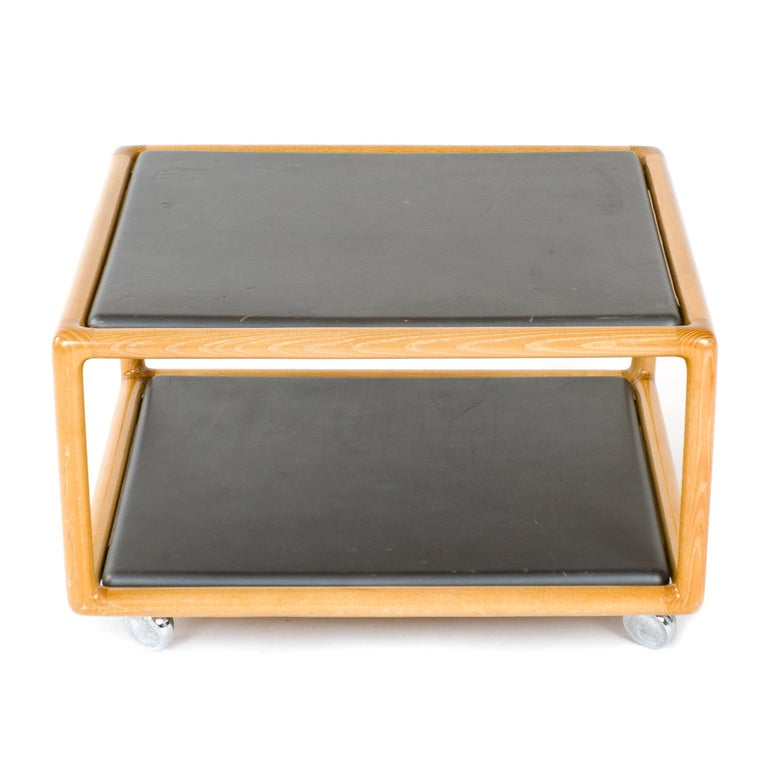 Mid-Century Modern 1970s Two-Tier Table by Ward Bennett for Brickel Associates For Sale