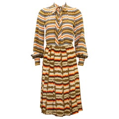 1970s Ungaro Striped Ensemble