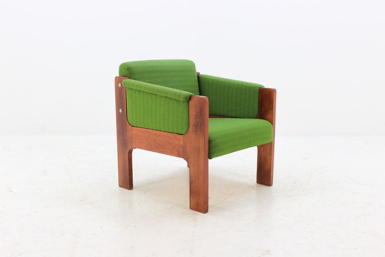 1970s Unique Lounge Chair, Czechoslovakia In Good Condition For Sale In Barcelona, ES