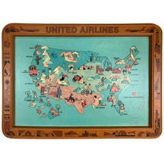 1970s United Airlines Airport / Travel Agent Thermo-Plastic Sign, 3-Dimensional